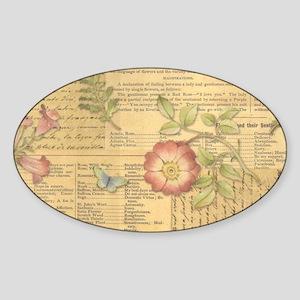 Vintage Floral Print Sticker