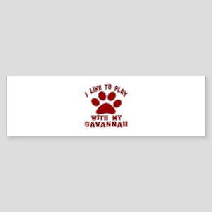I Like Play With My Serengeti Cat Sticker (Bumper)