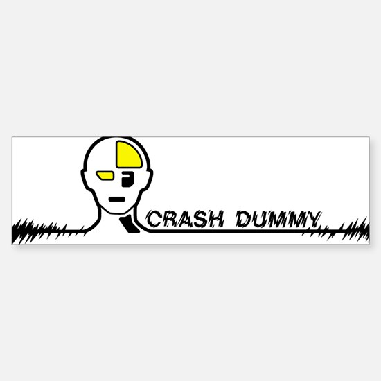 Crashdummy Bumper Bumper Bumper Sticker