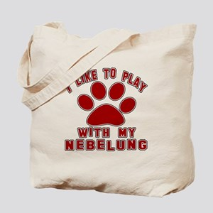 I Like Play With My Nebelung Cat Tote Bag