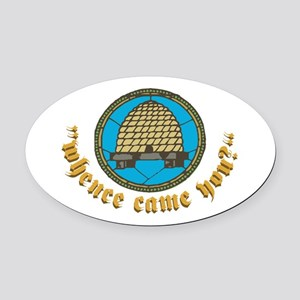 Mhence Come Nou Oval Car Magnet