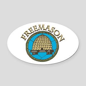 Freemason Oval Car Magnet