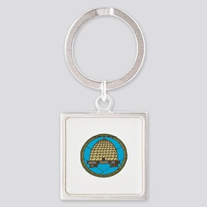 Freemason Beehive Keychains