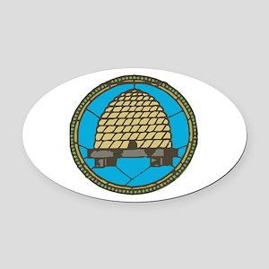 Freemason Beehive Oval Car Magnet