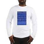 Hebrew Wall Chart Long Sleeve T-Shirt