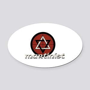 Martinist Oval Car Magnet