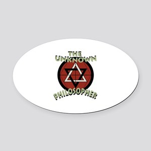Unknown Philosopher Oval Car Magnet