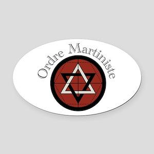 Ordre Martiniste Oval Car Magnet
