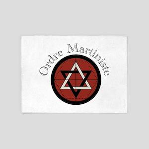 Ordre Martiniste 5'x7'Area Rug