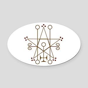Astaroth Goetic Seal Oval Car Magnet