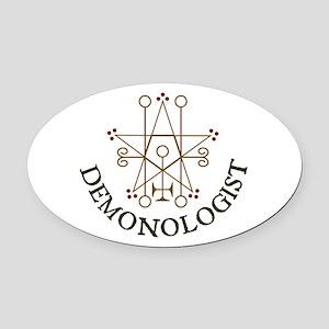Demonologist Oval Car Magnet
