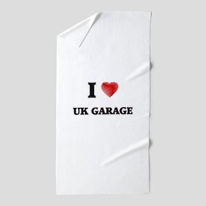 I Love Uk Garage Beach Towel