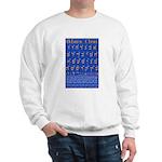 Hebrew Wall Chart Sweatshirt
