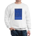 Hebrew Wall Chart Sweatshirt