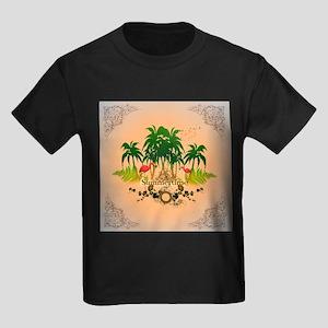 Summertime, tropical design T-Shirt