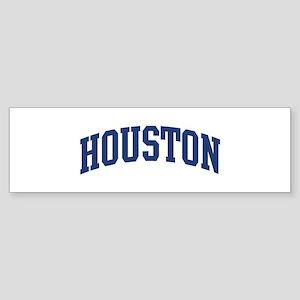 HOUSTON design (blue) Bumper Sticker