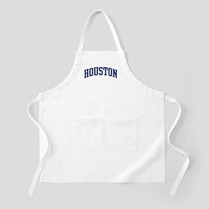 HOUSTON design (blue) BBQ Apron