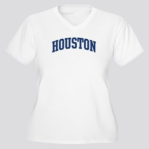 HOUSTON design (blue) Women's Plus Size V-Neck T-S