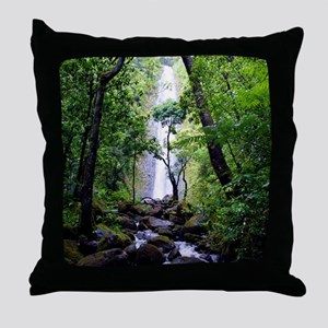 Manoa Falls Hawaii Throw Pillow