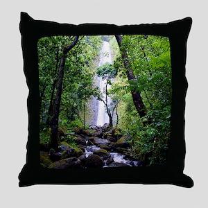 Manoa Falls Hawaii Throw Pillow