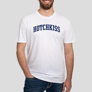 HOTCHKISS design (blue) Fitted T-Shirt
