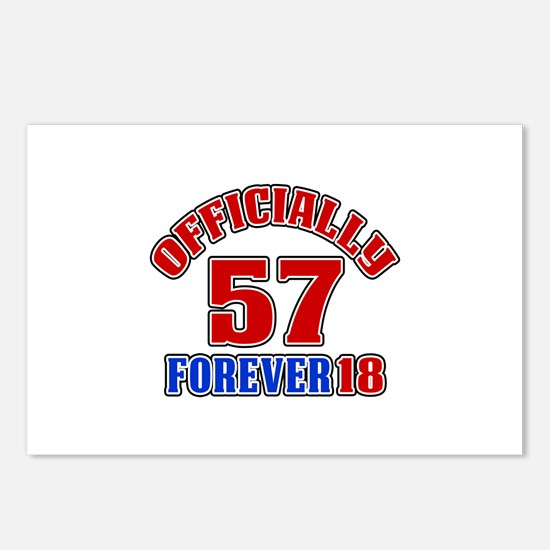 Officially 57 Forever 18 Postcards (Package of 8)