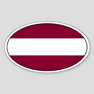 Latvian Stickers Oval Sticker