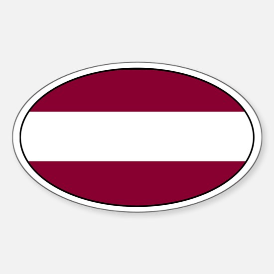 Latvian Decals Oval Decal