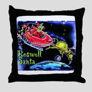Roswell Santa Throw Pillow