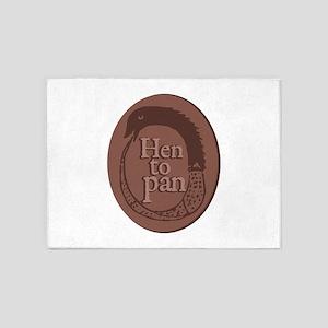 Hen To Pan 5'x7'Area Rug