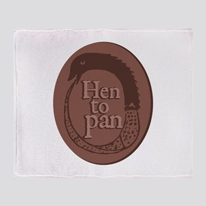 Hen To Pan Throw Blanket