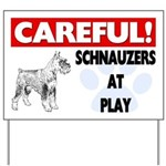 Careful Schnauzers At Play Yard Sign