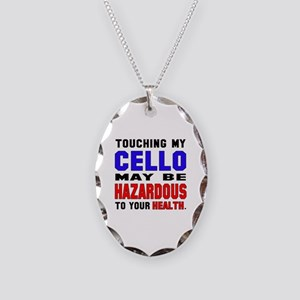 Touching my cello May be hazar Necklace Oval Charm