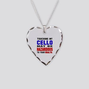 Touching my cello May be haza Necklace Heart Charm