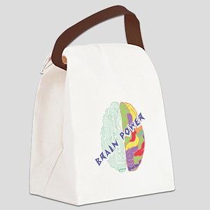 Brain Power Canvas Lunch Bag