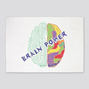 Brain Power 5'x7'Area Rug