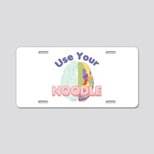 Use Your Noodle Aluminum License Plate