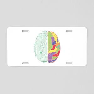 Left & Right Brain Aluminum License Plate