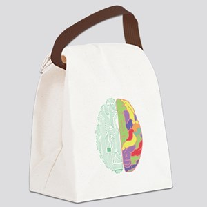 Left & Right Brain Canvas Lunch Bag