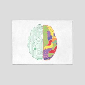 Left & Right Brain 5'x7'Area Rug