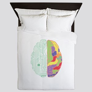 Left & Right Brain Queen Duvet