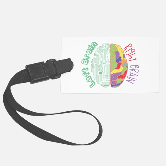 Left & Right Brain Luggage Tag