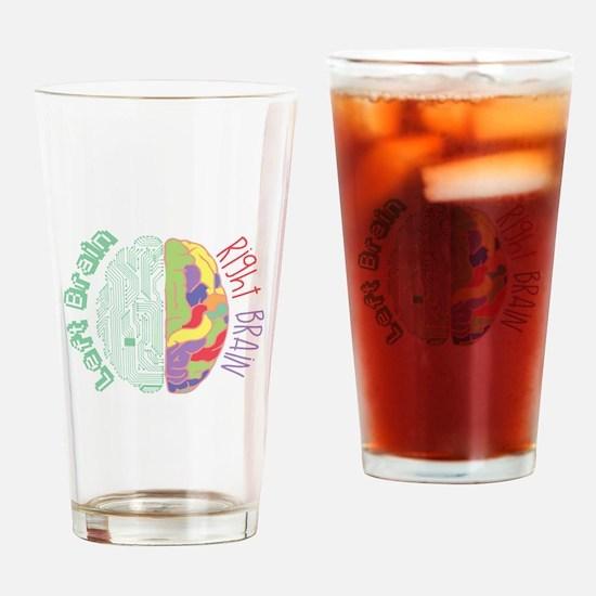 Left & Right Brain Drinking Glass