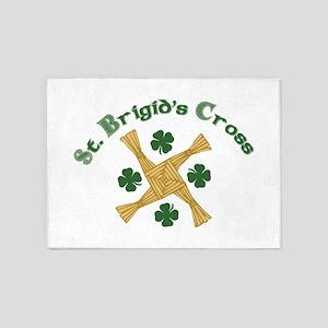 St. Brigids Cross 5'x7'Area Rug
