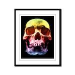 Pop Art Skull Face Framed Panel Print