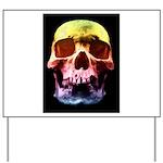 Pop Art Skull Face Yard Sign