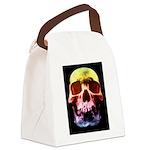 Pop Art Skull Face Canvas Lunch Bag