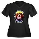Pop Art Skull Face Plus Size T-Shirt