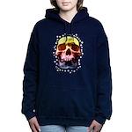 Pop Art Skull Face Women's Hooded Sweatshirt