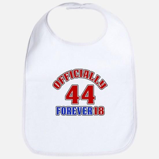 Officially 44 Forever 18 Bib